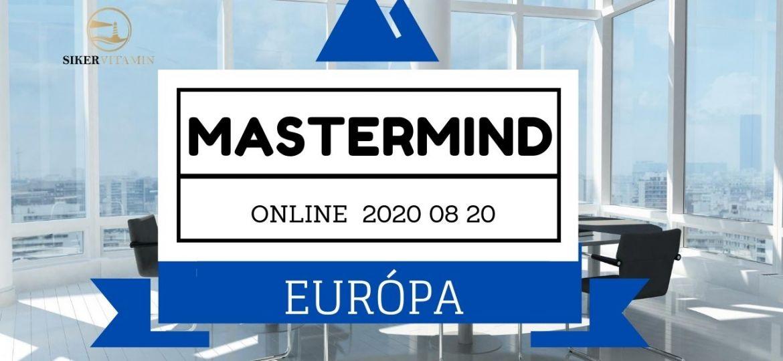 SÜK ZOOM 2020 08 20 Európa